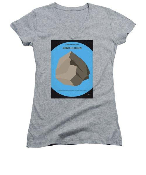 No695 My Armageddon Minimal Movie Poster Women's V-Neck T-Shirt