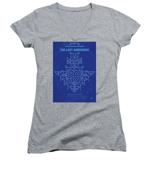 Women's V-Neck T-Shirt (Junior Cut) featuring the digital art No764 My The Last Airbender Minimal Movie Poster by Chungkong Art