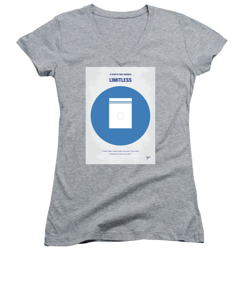 No828 My Limitless Minimal Movie Poster Women's V-Neck (Athletic Fit)