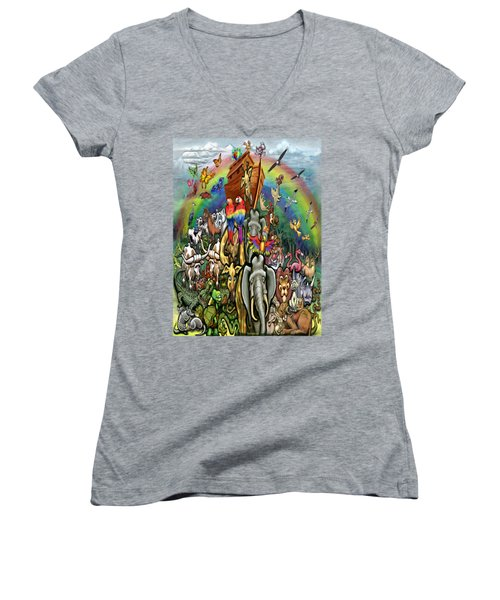 Noah's Ark Women's V-Neck T-Shirt
