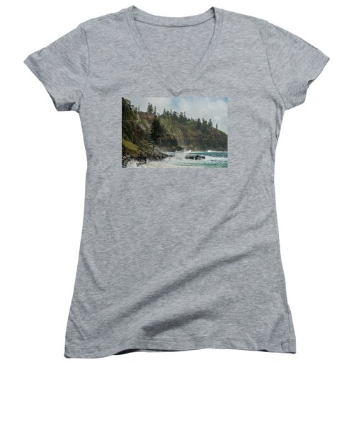 Women's V-Neck T-Shirt featuring the photograph Norfolk Island Coastline 01 by Werner Padarin