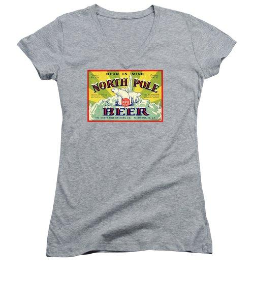 North Pole Beer Women's V-Neck T-Shirt