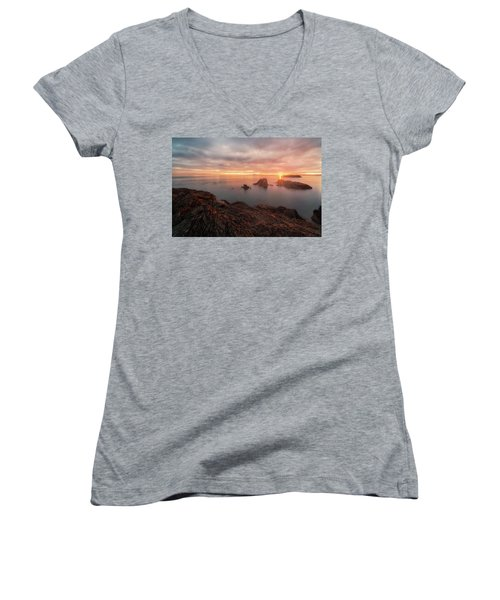North Puget Sound Sunset Women's V-Neck T-Shirt