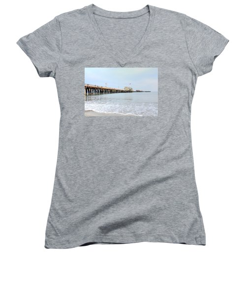 North Side Stearn's Wharf Women's V-Neck (Athletic Fit)