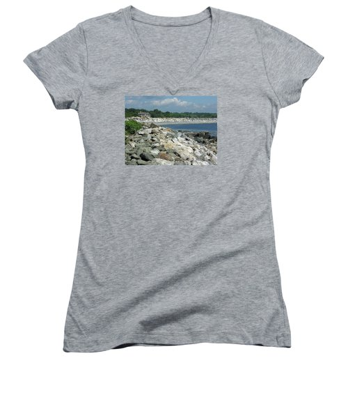 Northeast Us, Atlantic Coast, Rye Nh Women's V-Neck (Athletic Fit)