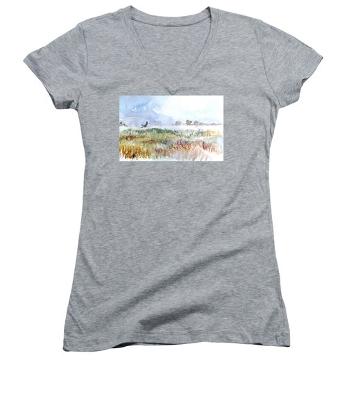 Northern Harrier Women's V-Neck T-Shirt