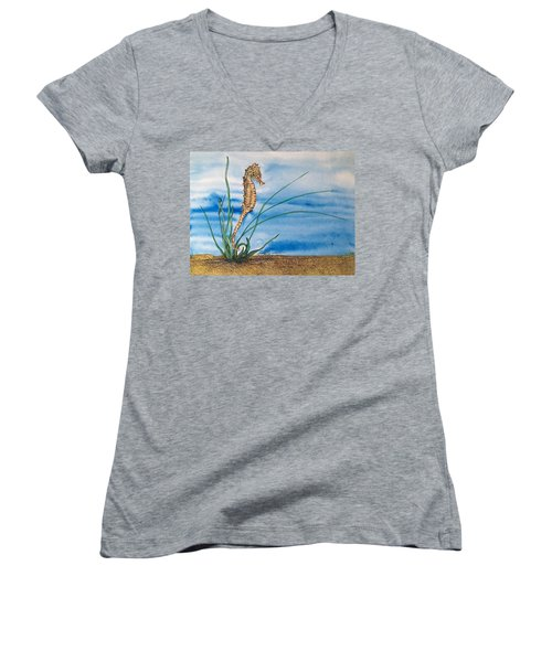 Northern Seahorse Women's V-Neck
