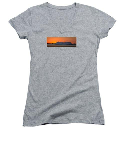Norwegian Breakaway Women's V-Neck T-Shirt (Junior Cut) by Kenneth Cole