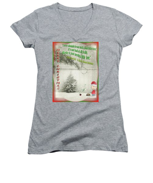 Not A Bad Little Tree Women's V-Neck T-Shirt