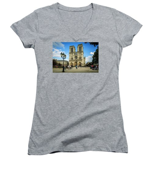 Notre Dame Cathedral Women's V-Neck