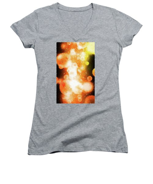Women's V-Neck T-Shirt (Junior Cut) featuring the photograph Nova 1.0 by James Bethanis