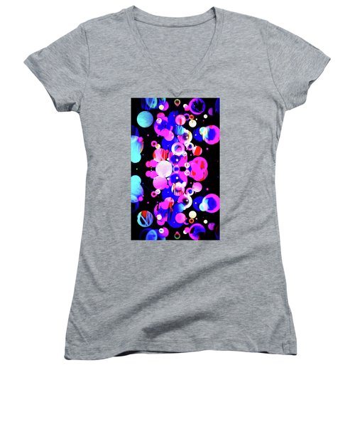 Women's V-Neck T-Shirt (Junior Cut) featuring the photograph Nova 2.0 by James Bethanis
