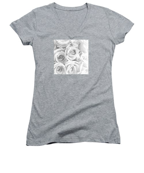 November Roses Women's V-Neck (Athletic Fit)