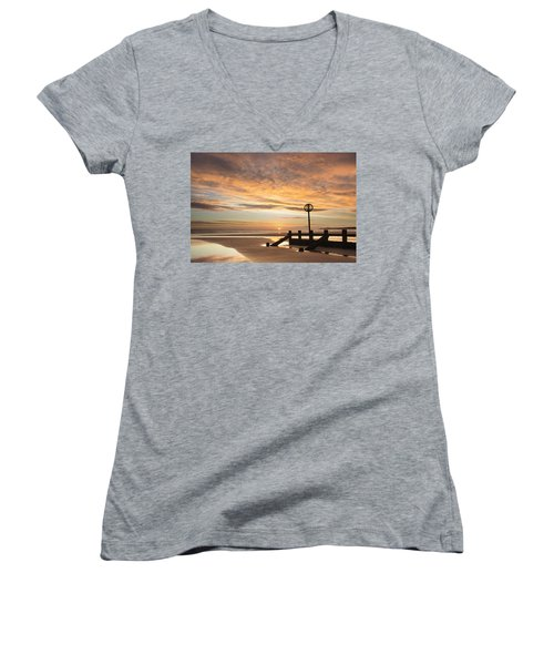 November Sunrise Women's V-Neck (Athletic Fit)
