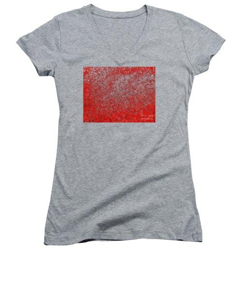 Now It's Red Women's V-Neck T-Shirt (Junior Cut) by Rachel Hannah