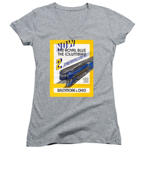 Now The Royal Blue The Columbian Women's V-Neck (Athletic Fit)