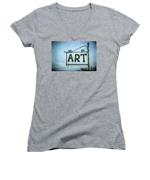 Now This Is Art Women's V-Neck (Athletic Fit)