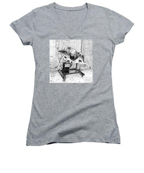 Now We Ride II Study Women's V-Neck T-Shirt