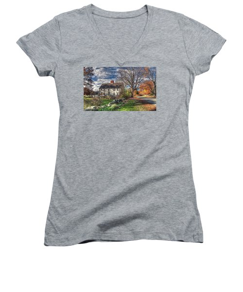 Noyes House In Autumn Women's V-Neck
