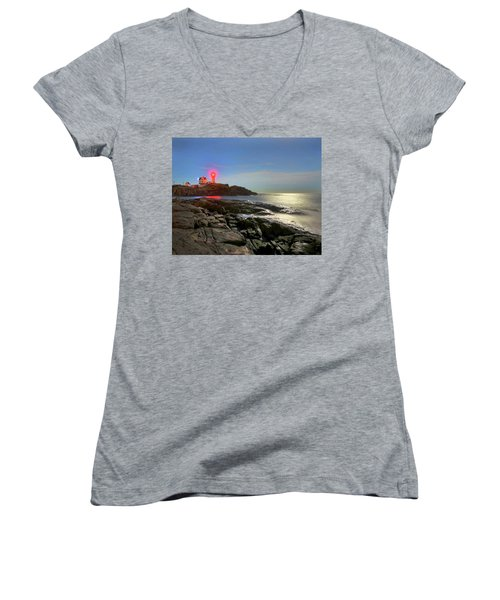 Nubble Light 457 Women's V-Neck T-Shirt
