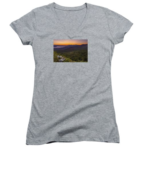 Nubble Sunrise Women's V-Neck T-Shirt