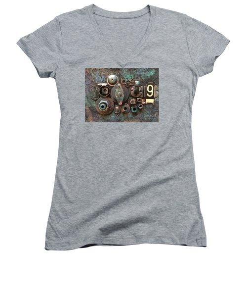 Number 9 Women's V-Neck T-Shirt