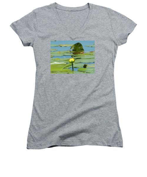Nuphar Lutea Yellow Pond Women's V-Neck