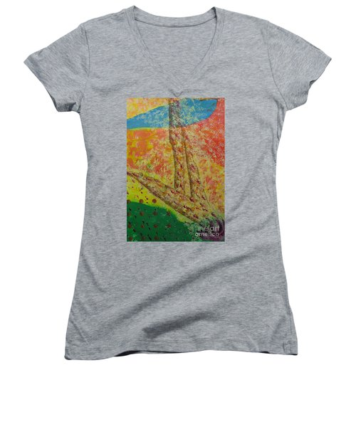 Nurture Women's V-Neck T-Shirt (Junior Cut) by Mini Arora