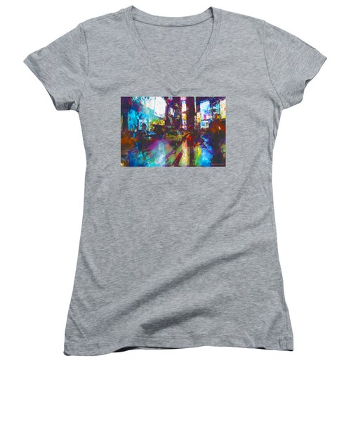 Nyc Canyon Women's V-Neck (Athletic Fit)