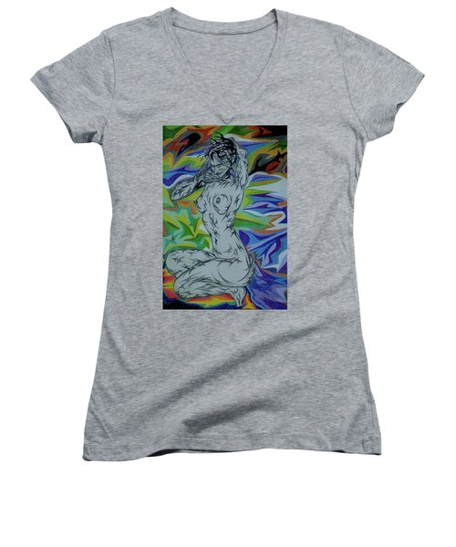 Nymph In Paradise Women's V-Neck (Athletic Fit)