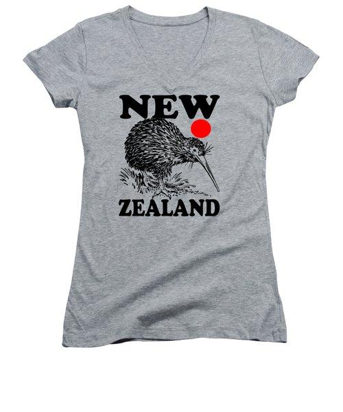 Nz-kiwi Women's V-Neck T-Shirt