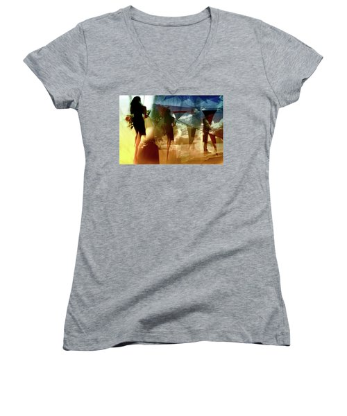 Women's V-Neck T-Shirt (Junior Cut) featuring the photograph O How Much More Doth Beauty Beauteous Seem by Danica Radman
