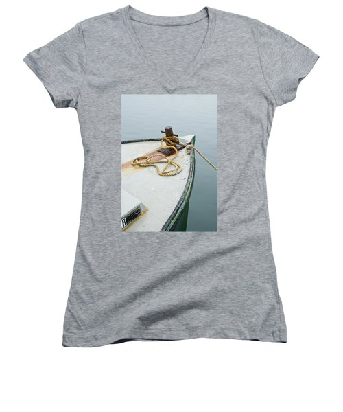 Oak Bluffs Fishing Boat Women's V-Neck