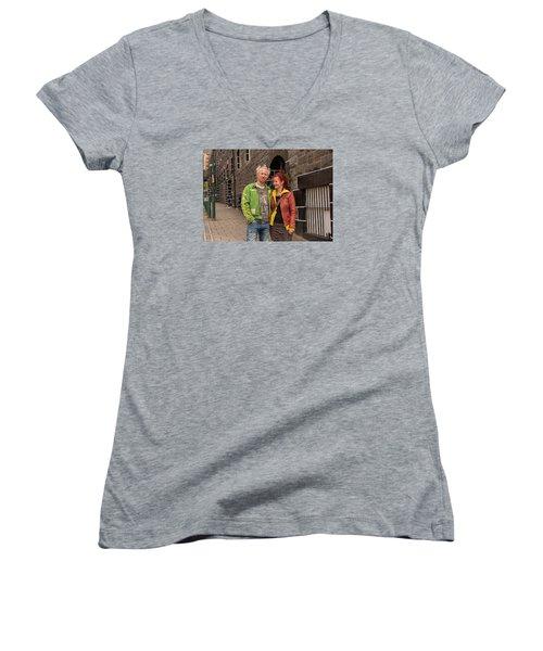 Oban Tourists Women's V-Neck T-Shirt