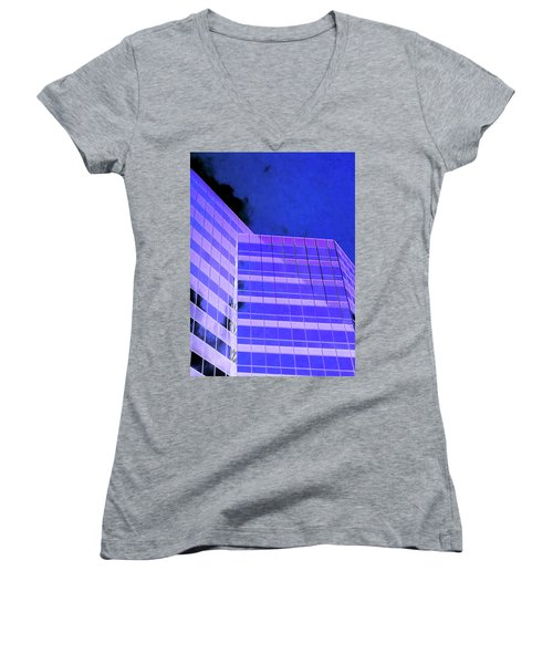 Women's V-Neck T-Shirt (Junior Cut) featuring the photograph Obscurity In by Jamie Lynn