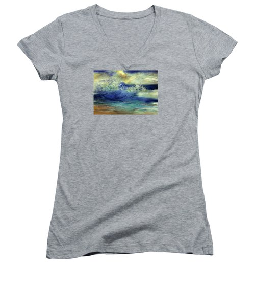 Ocean Women's V-Neck T-Shirt (Junior Cut) by Allison Ashton