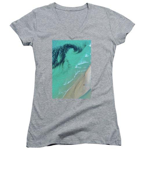 Ocean Art Women's V-Neck (Athletic Fit)