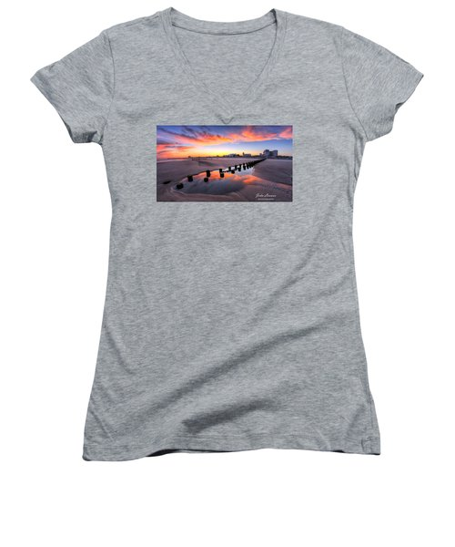 Ocean City Afterglow Women's V-Neck T-Shirt