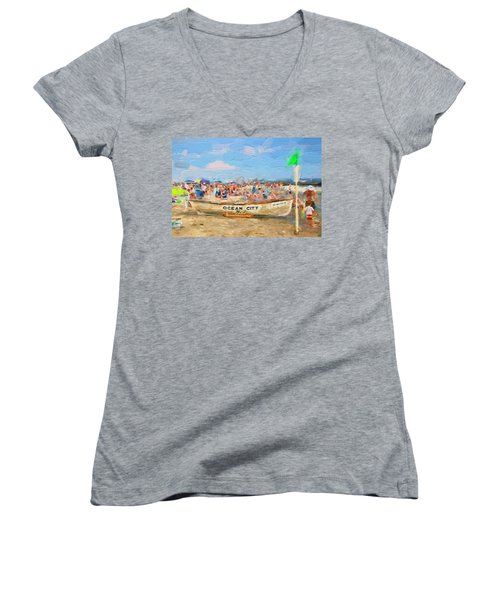 Ocean City Rescue Boat 2 Women's V-Neck