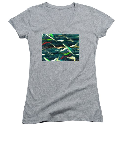 Ocean Run 2 Women's V-Neck T-Shirt