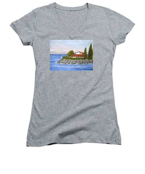 Ocean Scene  Women's V-Neck T-Shirt (Junior Cut)