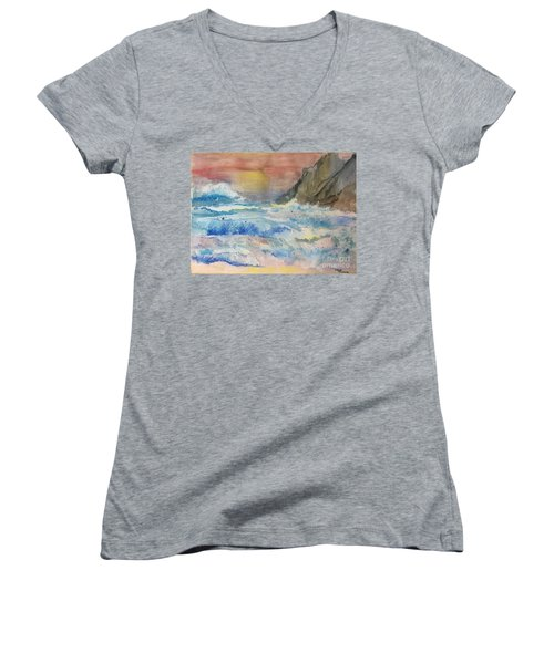 Ocean Waves Women's V-Neck