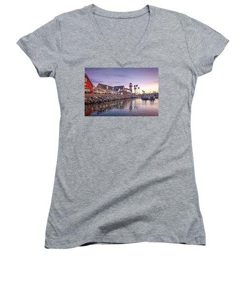 Oceanside Harbor Women's V-Neck T-Shirt