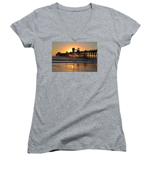 Oceanside Pier Women's V-Neck