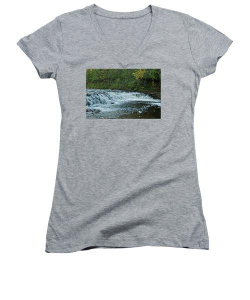 Ocqueoc Falls_9535 Women's V-Neck T-Shirt