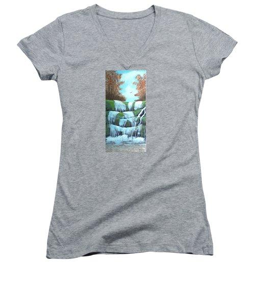 October Falls Women's V-Neck T-Shirt