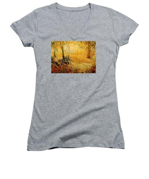 October Glow Women's V-Neck T-Shirt