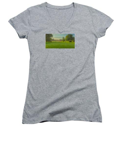 October Morning Golf Women's V-Neck (Athletic Fit)