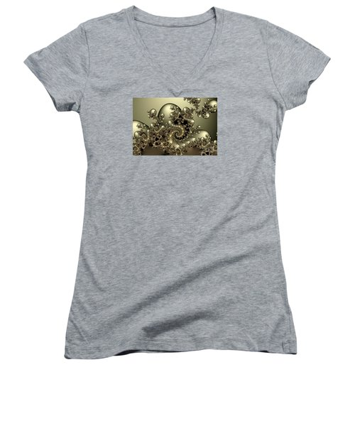 Octopus Women's V-Neck T-Shirt (Junior Cut) by Karin Kuhlmann