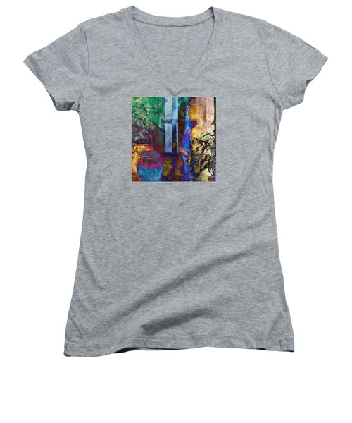 Women's V-Neck T-Shirt (Junior Cut) featuring the photograph Ode On Another Urn by LemonArt Photography